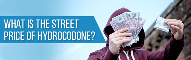 What is the Street Price of Hydrocodone?