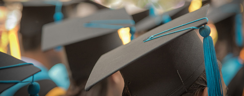 College graduation hats