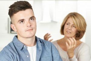 Mother Arguing With Teenage Son