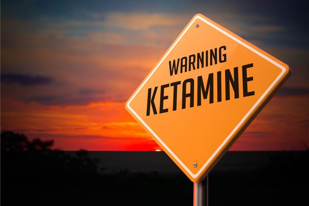 Ketamine on Warning Road Sign