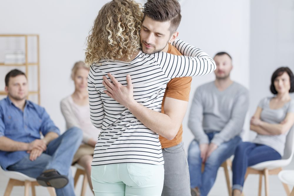 Couple supporting each other during GHB treatment