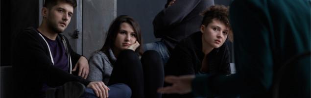 teens on intervention meeting