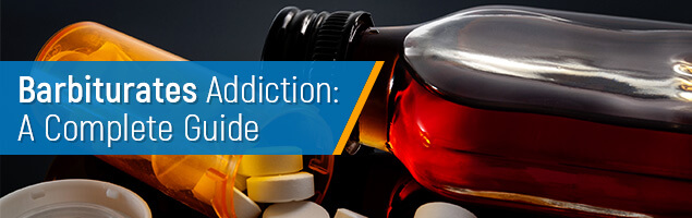 Barbiturates addiction guide concept