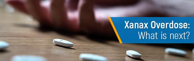Concept of Xanax overdose image