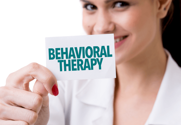 Nurse with behavioral therapy