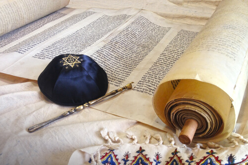 Hebrew writing ad a hat