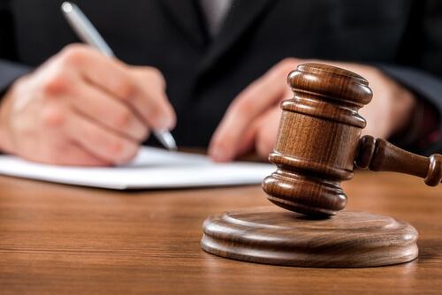 Judge hammer of justice