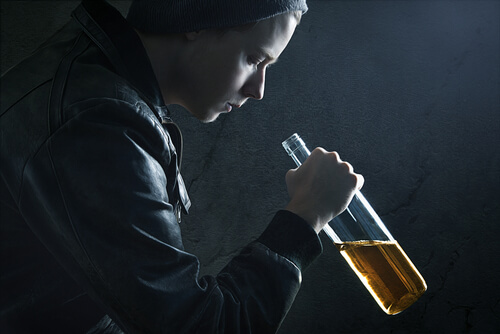 teen abusing alcohol