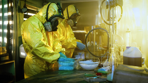 chemists illegal drug lab