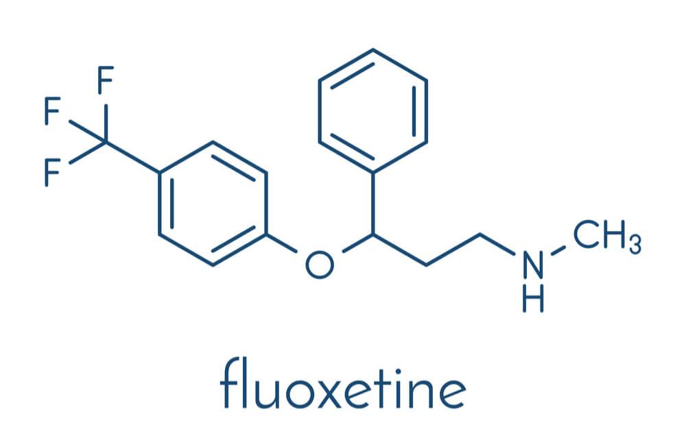 skeletal formula of fluoxetine molecule