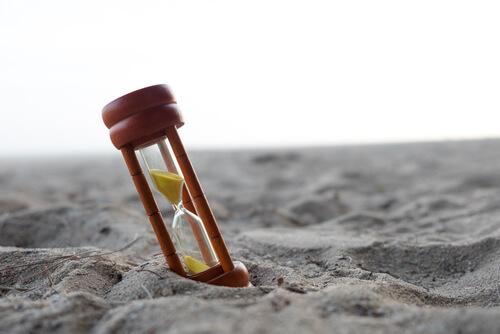 sand watch on a beach