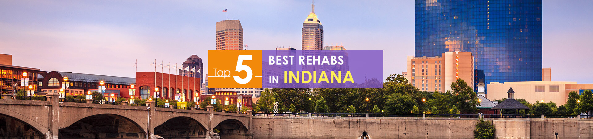 Indianapolis view and top 5 rehabs in Indiana caption