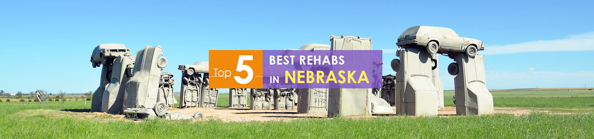 Nebrasks Carhenge monument and top 5 rehabs caption