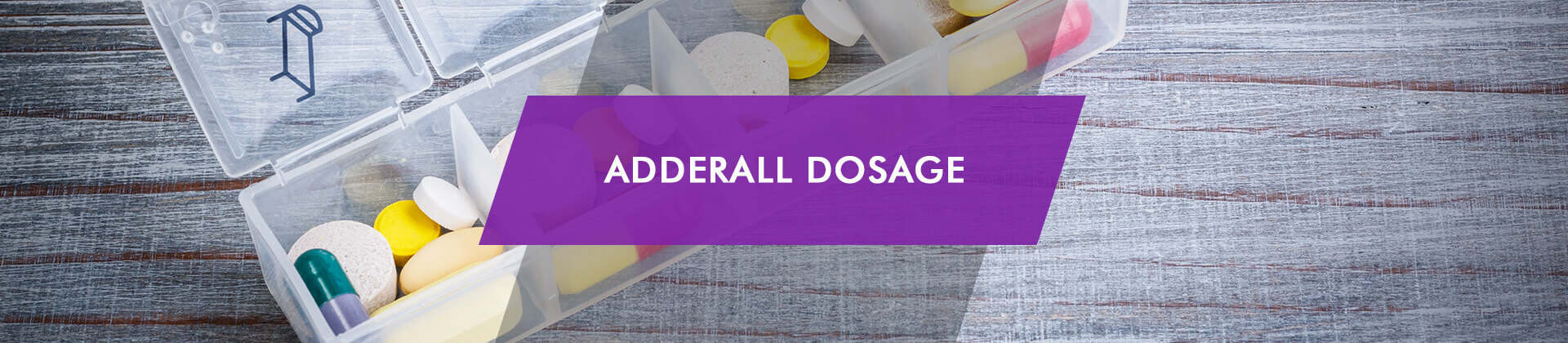 Dosage of Adderall pill dispenser