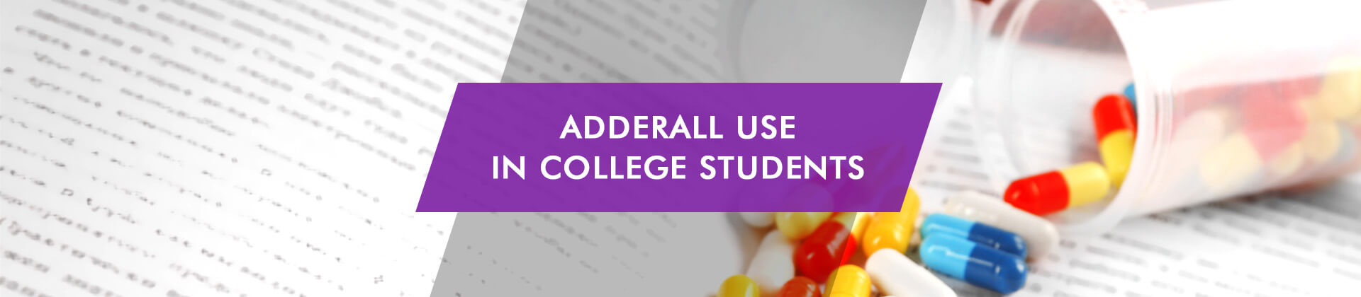 Adderall Use in College Students pils on the book