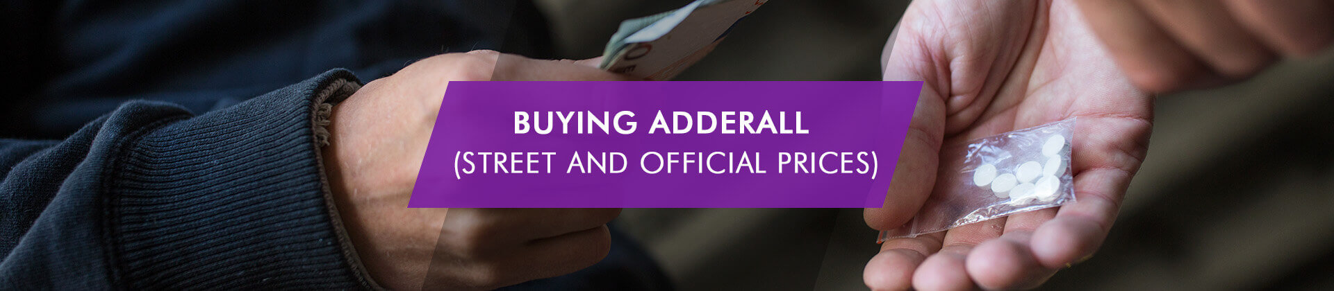 street and official prices for Adderall