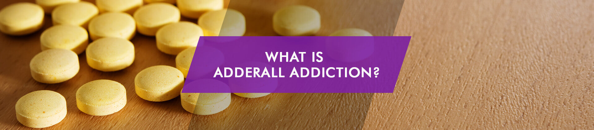 What is Adderall Addiction caption and orange pills on the table