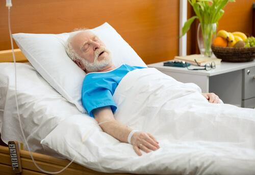 old man having drop counter