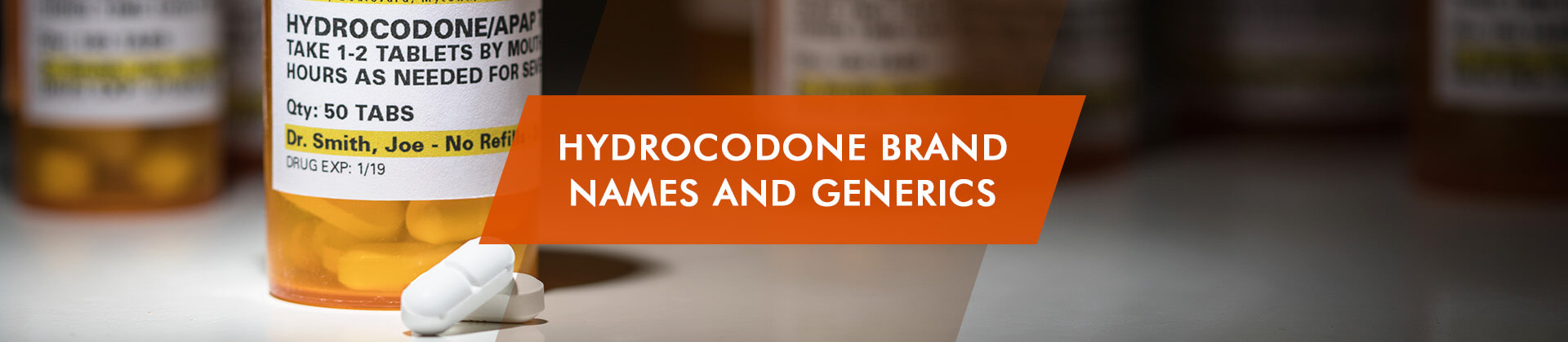 Hydrocodone Brand Names and Generic names