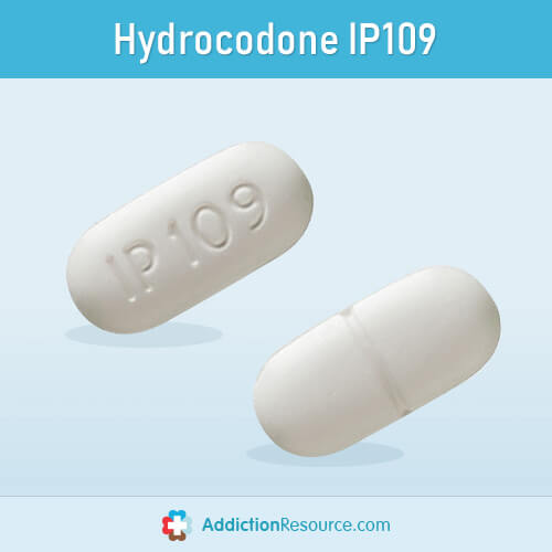 Hydrocodone IP109 pill