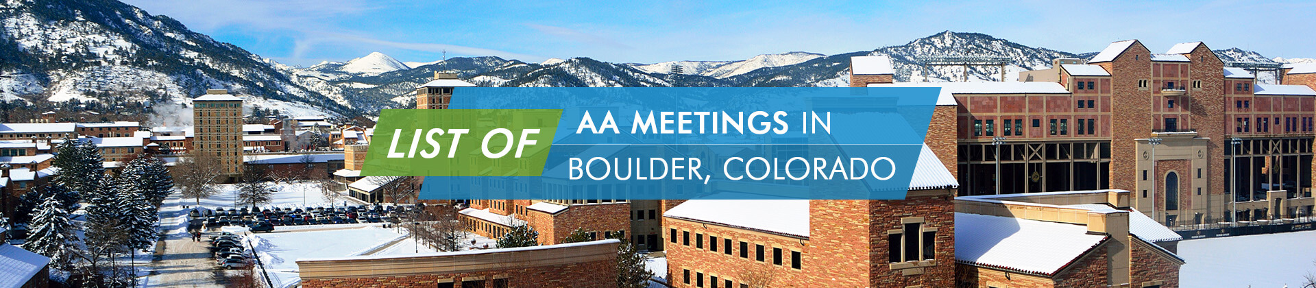 AA Meetings Boulder Colorado