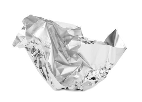 tinfoil shaped for smoking hydrocodone