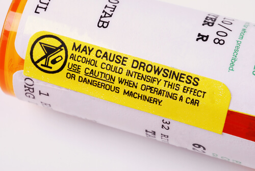 important warnings lable on the bottle of prescription hydrocodone
