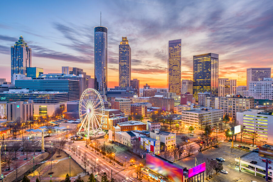 Atlanta, Georgia, USA downtown
