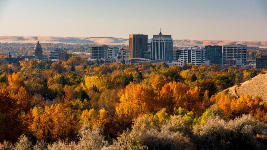 Boise Idaho skyline
