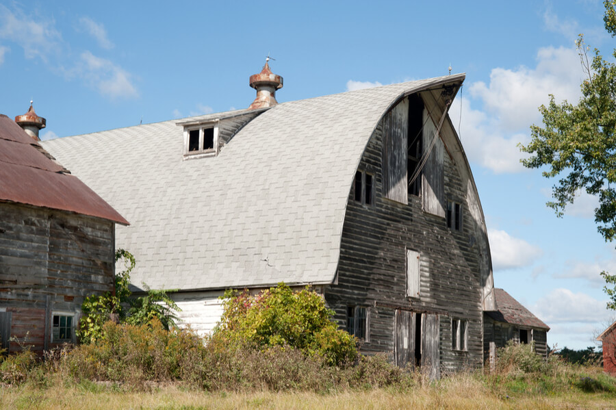 Classic old barn in Schenectady County, New York