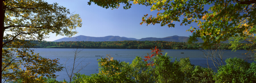 Hudson River In Autumn, Rhinebeck, New York