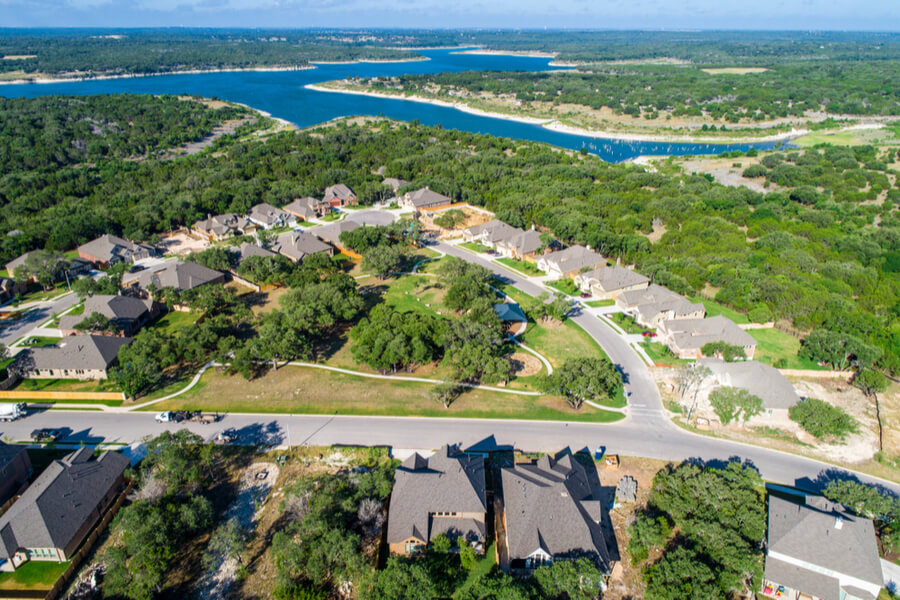 Lake view homes Georgetown , Texas
