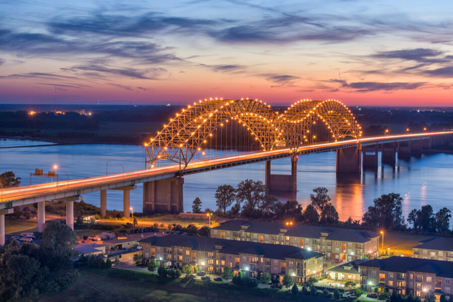 Bridge in Memphis, Tennessee, USA