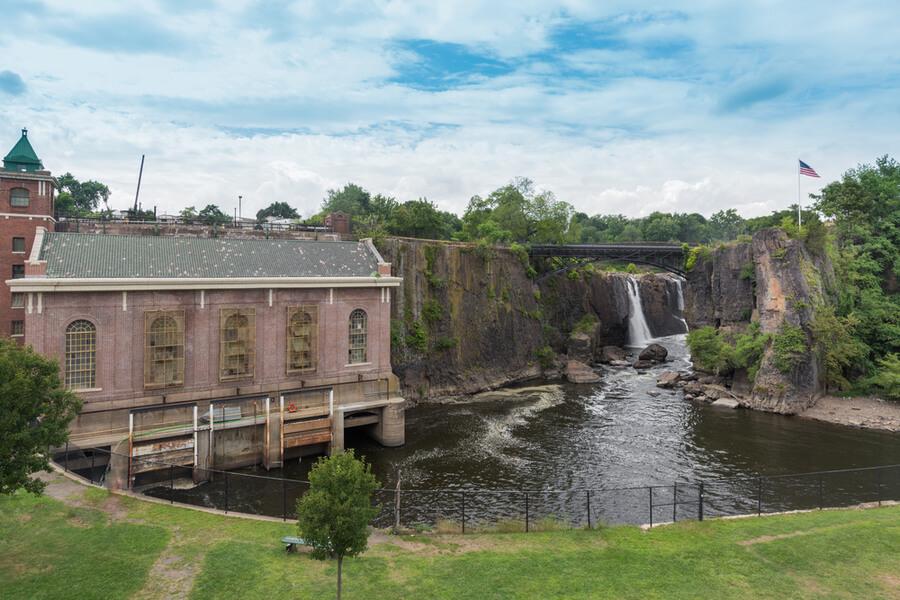 Passaic River in Paterson, NJ