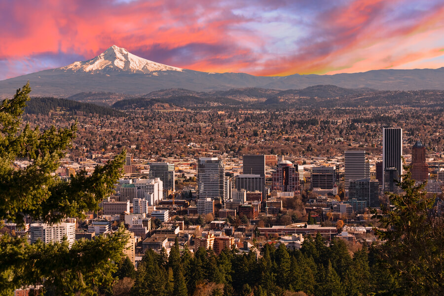 View of Portland, Oregon