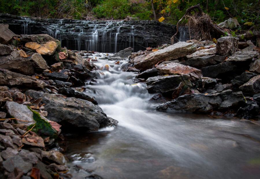 Waterfall at Cedar Lake