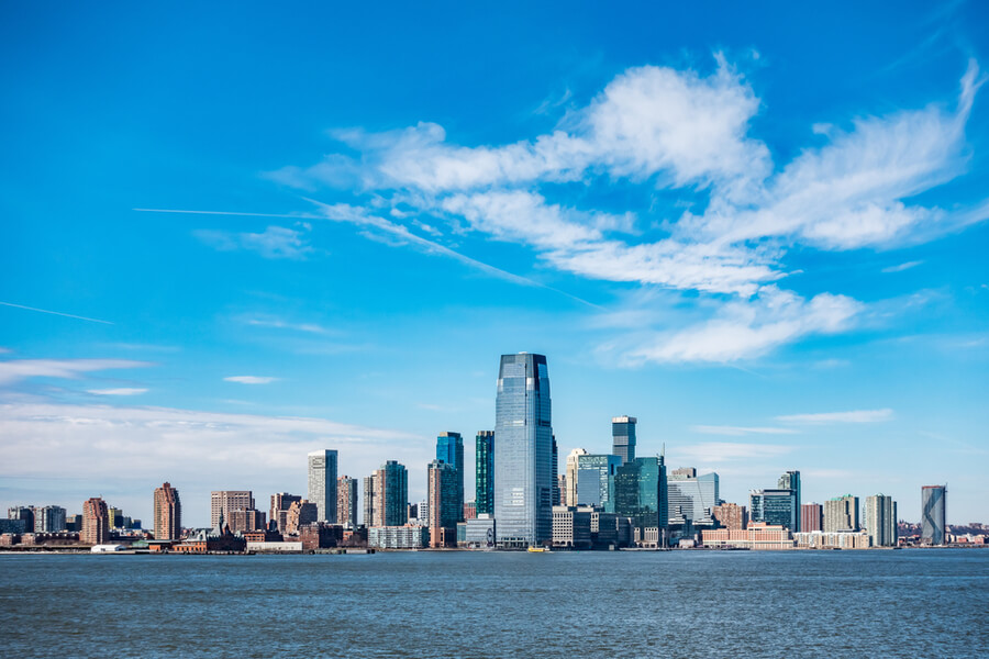 view of New Jersey City skylines
