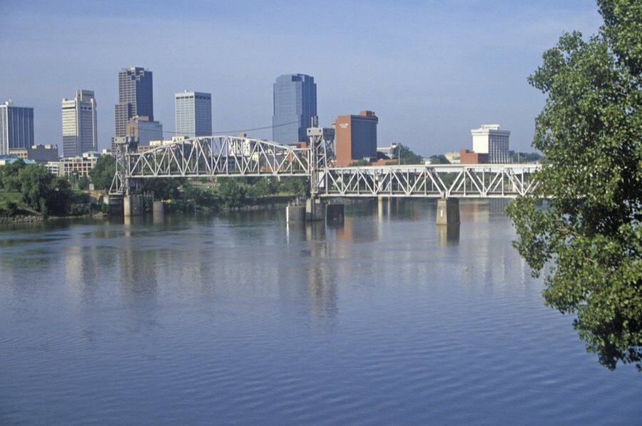 Arkansas River view from North Little Rock