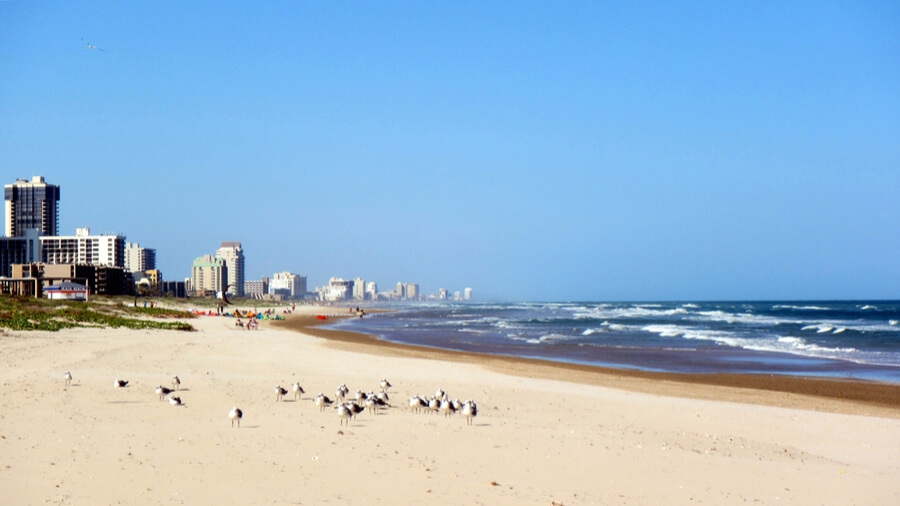 Beach and City of South Padre Island