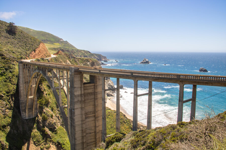 Bixby Creek Bridge at Highway 1 in California