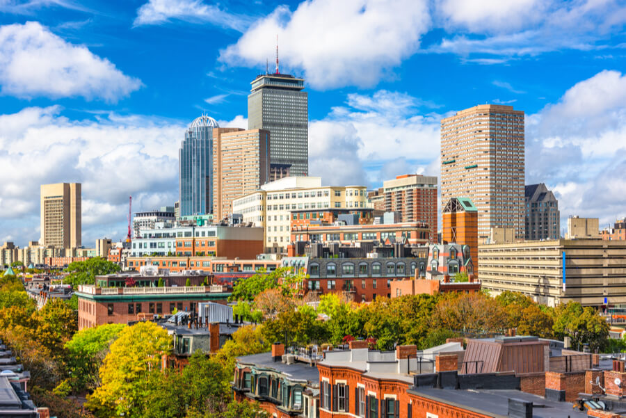 Boston, Massachusetts, USA city skyline