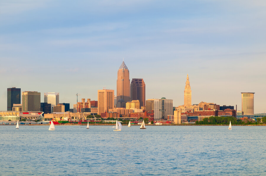 Cleveland, Ohio, near sunset