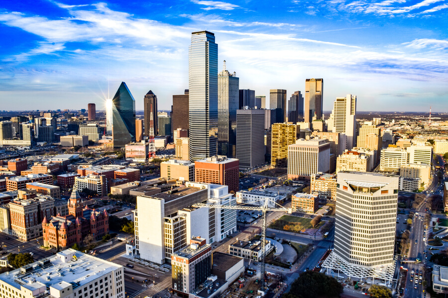 Downtown Dallas on a Summer Afternoon