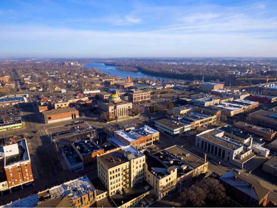 Downtown Saint Cloud, Minnesota USA