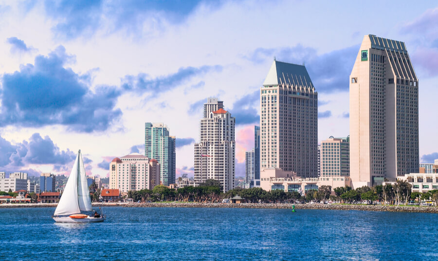 Downtown San Diego, California USA