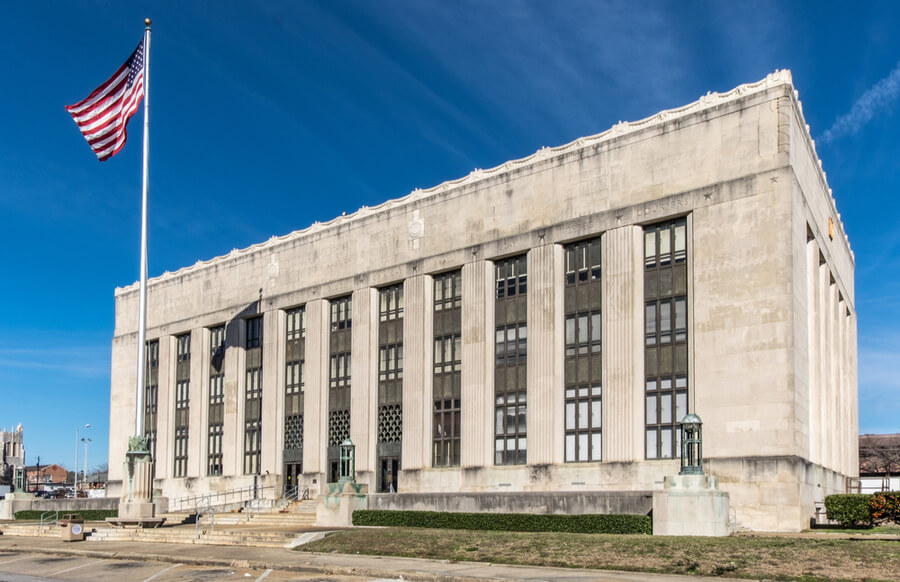 Federal courthouse at Meridian, Mississippi