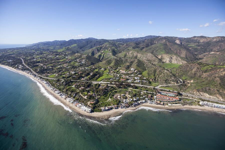 Malibu Cove Colony area of Malibu, California