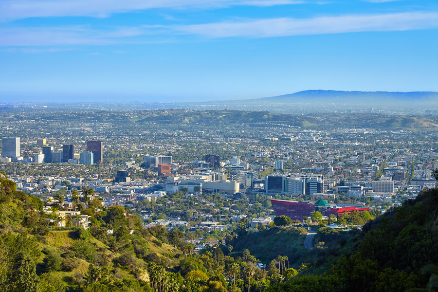 Panoramic view of the West Hollywood