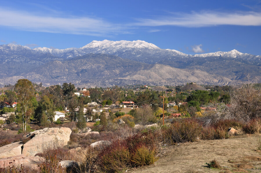 The town of Hemet, California