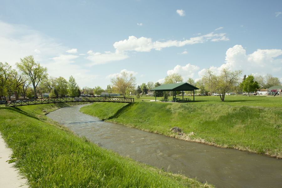 Washington Park in Sheridan, Wyoming